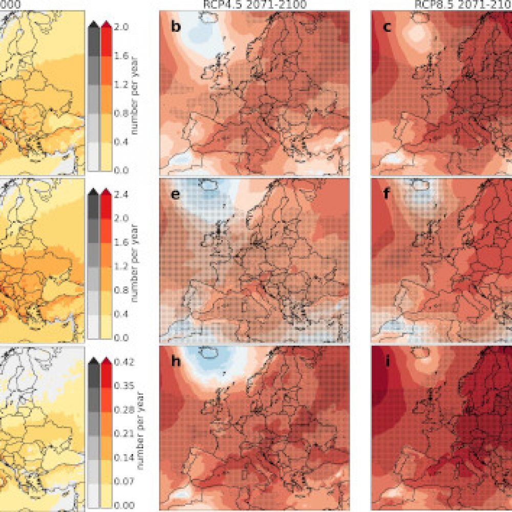 Frequency of severe thunderstorms across Europe expected to increase in the 21st century due to rising instability
