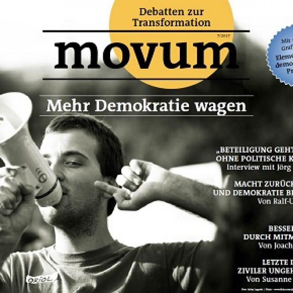 movum – Debatten zur Transformation, Heft 17, Demokratie